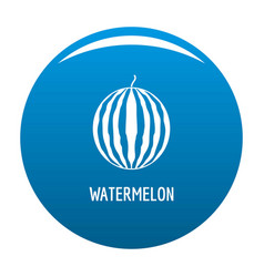 watermelon icon blue vector image