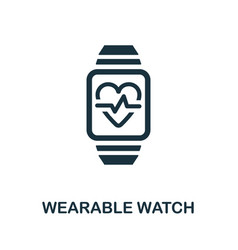 Wearable watch icon simple element from digital vector