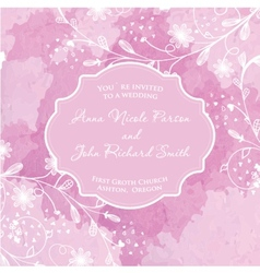 Wedding card on the grunge paper background vector