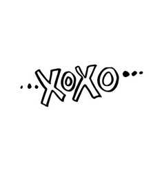 Xoxo christmas lettering vector