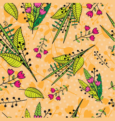 Abstract floral background seamless pattern vector