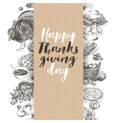 hand drawn thanksgiving vector image vector image