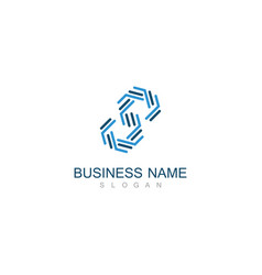 line letter s business logo vector image