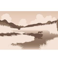 River deer vector image vector image