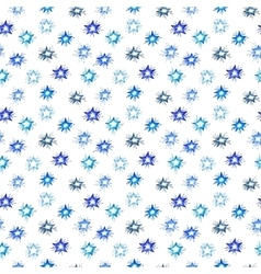 Watercolor christmas seamless pattern set for vector image