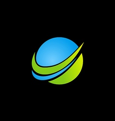 abstract globe technology logo vector image