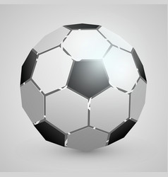 abstract soccer 3d ball vector image