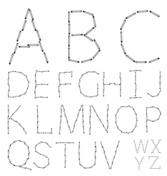 alphabet on a white background Eps10 vector image