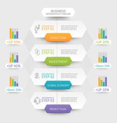 business hexagon infographics template vector image vector image