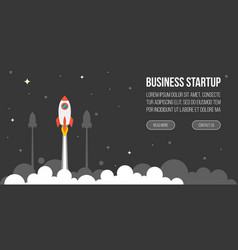 business startup template for banner vector image