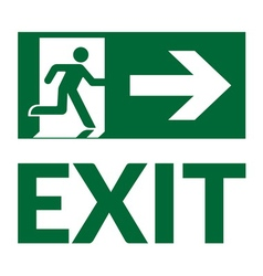 Exit sign green vector
