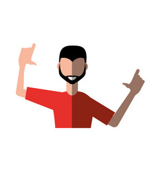 fun guy celebration happy vector image vector image