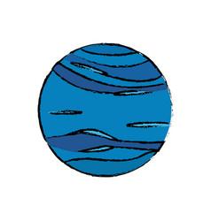 planet neptune astronomy universe icon vector image
