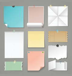 set of torn paper backgrounds vector image