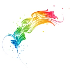 Abstract multicolored element vector image vector image