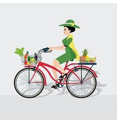 Bike vegetable vector image