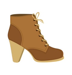 color silhouette of brown leather high heel shoe vector image vector image