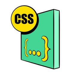 css file icon cartoon vector image vector image