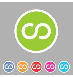 Infinity eternity icon flat web sign symbol logo vector image