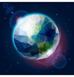 Earth globe as an icon vector image