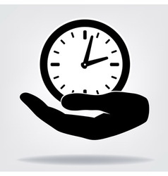 Hand with clock vector