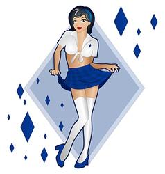 Lady luck of diamonds vector