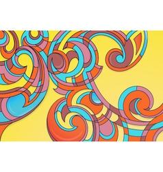 Modern curly art vector image