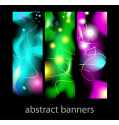 Abstract banners plasma vector