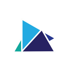 abstract triangle business finance logo vector image