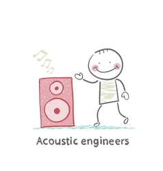 Acoustic engineer with column vector