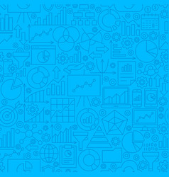 Analytics line tile pattern vector