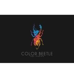 Beetle logo Color beetle logo design Creative vector image