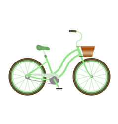 Bicycles vintage style old bike transport vector