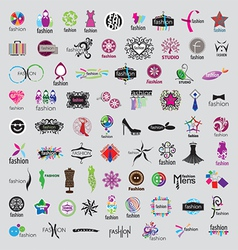 Biggest collection of logos of fashion vector