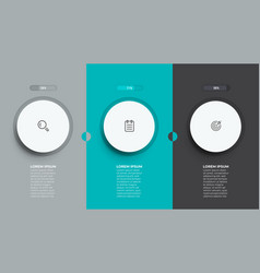 business infographic template with 3 options vector image