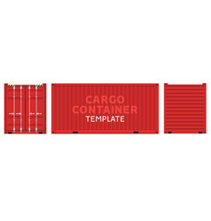 cargo container box isolated cargo sides vector image
