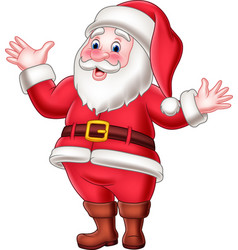 cartoon happy santa claus waving vector image