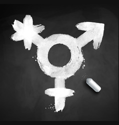 Chalked of transgender symbol vector
