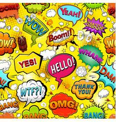 comics speech bubbles seamless pattern vector image
