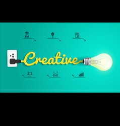 Creative concept modern design template Light bulb vector image