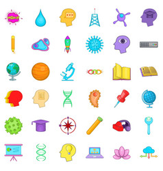 Creative job icons set cartoon style vector