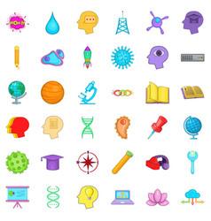 Creative job icons set cartoon style vector