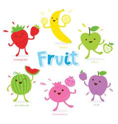 Cute fruit cartoon vector