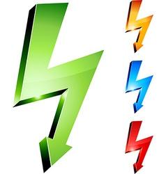 Electricity warning symbols vector