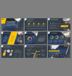 Elements for and presentation templates vector