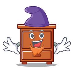 elf wooden drawer character cartoon vector image
