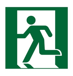 exit sign green vector image