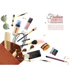 Fashion Cosmetics Background vector