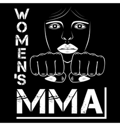 female MMA vector image