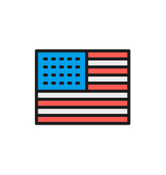 flag united states america flat color vector image